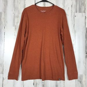 Eddie Bauer | Orange Wash Long Sleeve Men's Tee M
